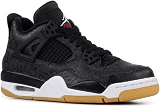 29d22e86863773 Air Jordan Retro 4 SE Black Laser Black White-Gum Light Brown (GS