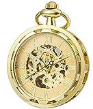 SEWOR unico volto vento meccanico della mano orologio da tasca (oro)