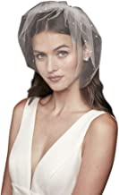 wedding veil with lace edging