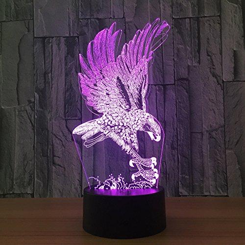 Dierlijke uil 3D Nachtlamp, Decoratieve LED Nachtkastje Tafellamp voor Kinderen Kamer Kerstmis Verjaardagscadeaus voor Kinderkamer Woonkamer Decoratie
