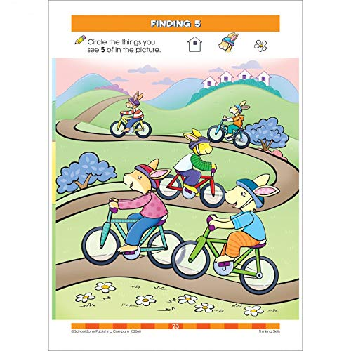 School Zone Workbooks Thinking Skills Grade P
