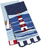 DII Nautical Print Kitchen Towel, Set of 2