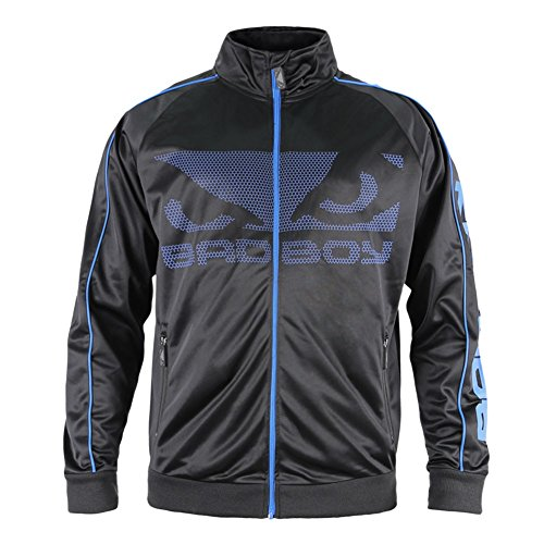 Bad Boy All Around - Chaqueta para hombre (talla pequeña), color negro y azul