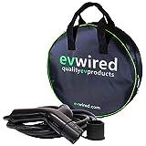 EV Wired Cable de carga híbrido para vehículos eléctricos y enchufable para vehículos eléctricos   5 metros   32 Amp   Tipo 2 a tipo 2