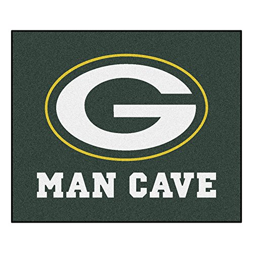 FANMATS 14307 NFL Green Bay Packers Nylon Universal Man Cave Tailgater Rug , 60