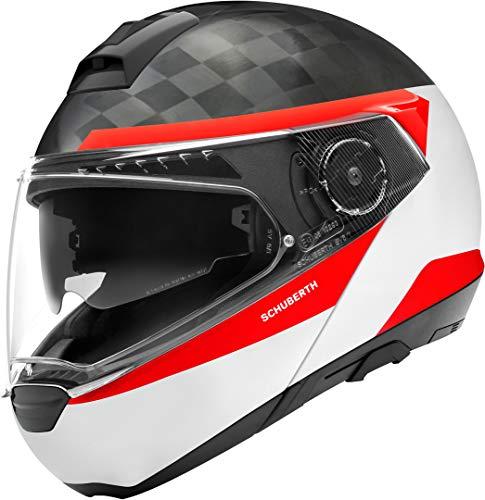 SCHUBERTH C4 PRO Carbon Delta Bianca Modulare Casco per Moto Taglia M