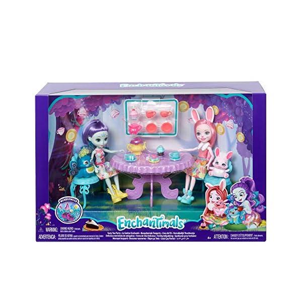 Enchantimals Fiesta de Té con la Muñeca Bree Bunny y Accesorios (Mattel GLD41)