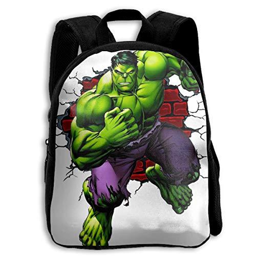 Mochila para niños con estampado de Hulk, bolsa escolar para adolescentes, para niños y niñas