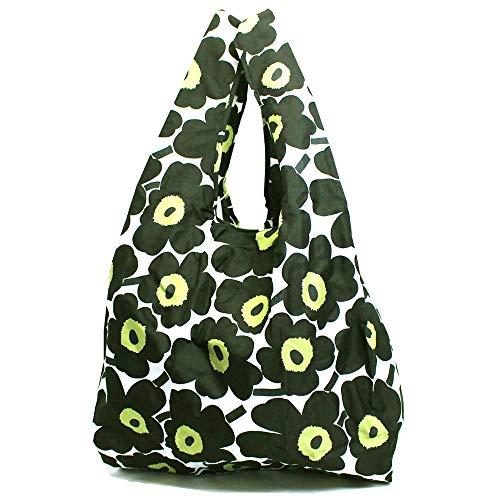 マリメッコ MARIMEKKO ウニッコ エコバッグ バッグ ナイロン トートバッグ 折りたたみ 花柄 ブラック 048852