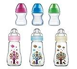 MAM Feel Good Glas-Babyflasche, neutral ab 2 Monaten