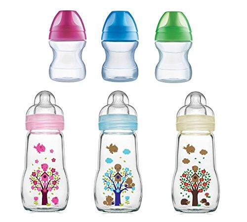 MAM Feel Good Biberon en verre pour bébé de 2 mois et plus