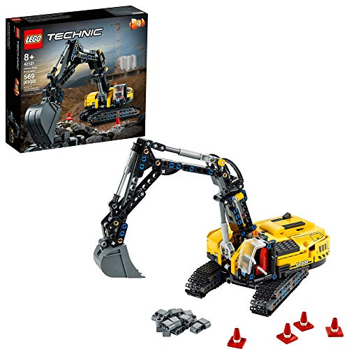 LEGO Technic Heavy-Duty Excavator 42121 Toy Building Kit; A Cool Birthday or Anytime Gift for Kids Who Enjoy Construction Toys; The 2-in-1 Design Gives Hours More Building Fun, New 2021 (569 Pieces)