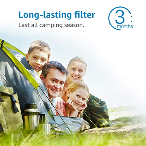 AQUACREST RV Inline Water Filter, NSF Certified, Reduces Chlorine, Bad Taste, odor for RV and Marines, Drinking & Washing Filter (Pack of 4)