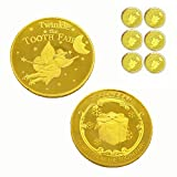 Tooth Fairy Coins Reward Commemorative Coin Collection Experience Gift for Lost Teeth Kids(6pcs)