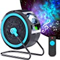 Star Projector, HOTEKME Galaxy Light Projector with 7 Colors LED Nebula, Bulit-in Music Speaker, 360° Rotating Laser Projector, Light Projector with Remote Control Timing for Party/Bar/Light Ambiance
