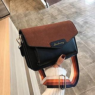 YKDY Shoulder Bag Women Small Square Bag Shoulder Bag Fashion Messenger Bag (Black) (Color : Black)