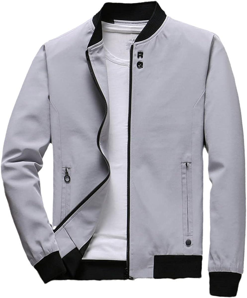 Men's Jacket Casual Zipper Jacket Spring Thin Coat Autumn Jacket Bomber Jacket