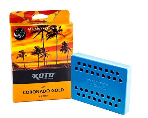 Best Prices! Koto Double Supreme Car Air Freshener Coronado Gold Scent, Last Up To 60 Days, Slim Tra...