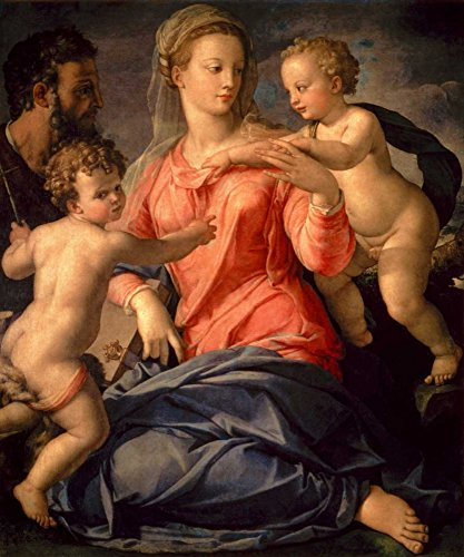 Posterazzi Collection The Holy Family Poster Print by Agnolo Bronzino (24 x 20)