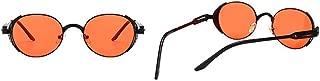 Fashion Women Men UV Protection for Driving Vintage Steampunk Style Spring Decoration Sunglasses for Retro (Color : Orange)