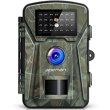 【NEW VERSION】APEMAN Trail Camera 12MP 1080P 2.4  LCD Game&Hunting Camera with 940nm Upgrading IR LEDs Night Vision up to 65ft/20m IP66 Spray Water Protected Design