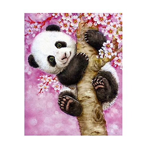 bdrsjdsb DIY Ölgemälde Malen Nach Zahlen Kit Für Erwachsene Anfänger, Bunte Tiere Malen Auf Leinwand -Panda 16x20 Zoll KTL2015