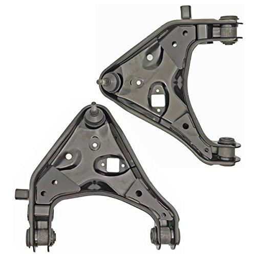 Detroit Axle - Both (2) Brand New Front Lower Driver & Passenger Side Control Arm and Ball Joint Assembly for Torsion Bar Suspension ONLY