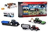 Majorette Big Farm Theme Set-Quattro veicoli agricoli