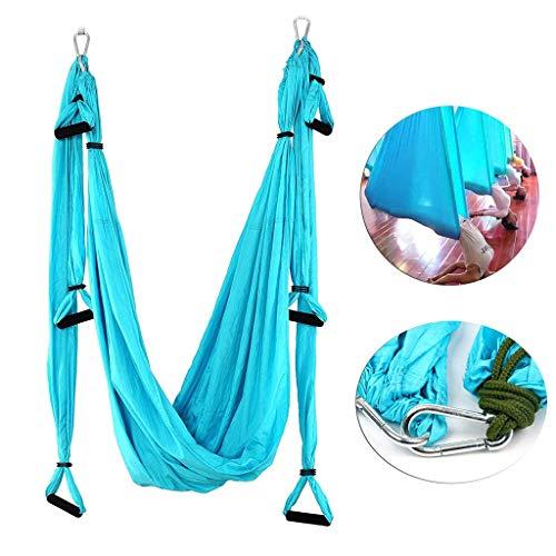 Aerial Yoga Swing Parachute Aerial Yoga Hamac Volant Antigravité Yoga Inversion Fitness Parachute Tissu Poignées Trapeze D'antenne, pour Une Utilisation Intérieur Extérieur avec Santé