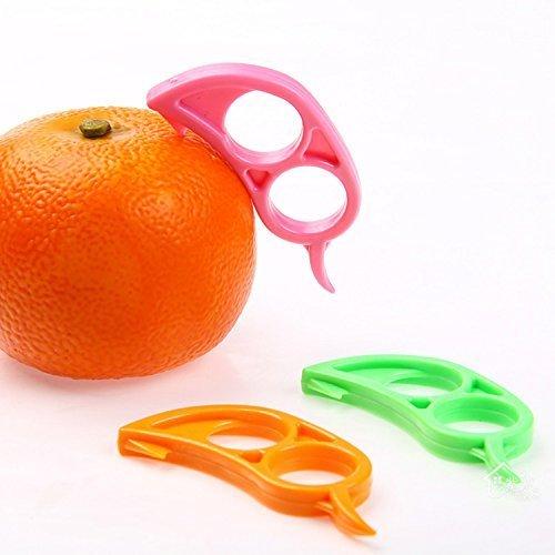 NiceButy 4 x Orange Opener Peeler Slicer Cutter Plastic Lemon Citrus Fruit Skin Remover