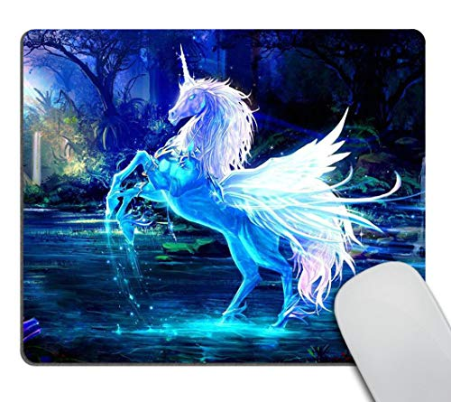 Smooffly Gaming Mouse Pad Custom,Sparkling Crystal Unicorn Mousepad Non-Slip Rubber Rectangle Mouse Pads for Computers Laptop