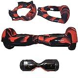 Siliskinz® Custodia in Gelatina per Silicone da 180 Gradi Hoverboard - per Smart Scooter da 6,5 'Swegway 2 Ruote (Rosso/Nero)