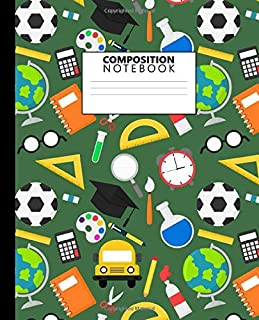 Composition Notebook: Awesome Back to School Wide Ruled Notebook and Journal for Boys - Blank Wide Lined Diary for Writing...