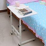 YLCJ Mesa de Cama médica con Ruedas Mesa de Hospital sobre Cama Rodable móvil para sofá, Carro portátil Ajustable en Altura Computadora móvil, Hospital (Color: C, Tamaño: 40x60cm)