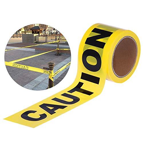 7,5 cm x 100 m Rolle gelbes Vorsichtsband für Sicherheitsbarriere für Polizeiabriken für Bauunternehmer, öffentliche Arbeitssicherheit