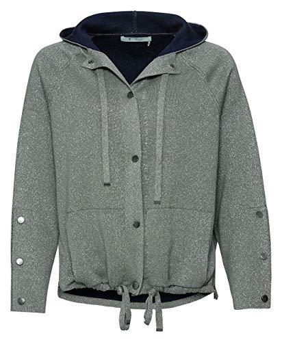 MONARI Doubleface-Jacke mit Kapuze und Lurex Fb. Schilf (XL)
