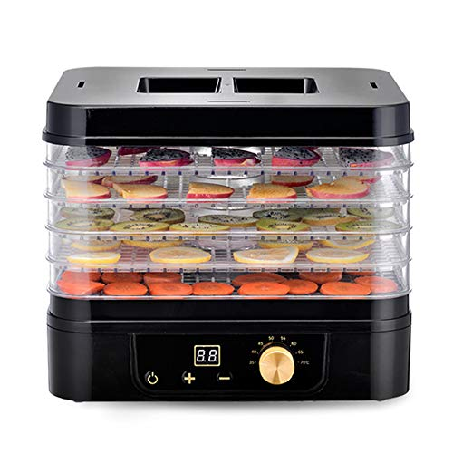 Electric Kitchen Dehydrator,Food Dehydrator,Professional Food Vegetable Dryer with 5 Drying Racks,Prepare Healthy Snacks for All Ages