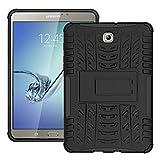 Skytar Galaxy Tab S2 8'' Custodia - Ibrido Armor Cover in TPU Silicone & Duro PC Case Protezione Custodia per Samsung Galaxy Tab S2 8.0 Pollici( SM-T710 T713 T715 T719) Tablet Cover,Nero