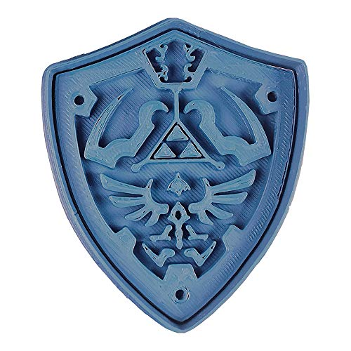 Cuticuter Escudo Hyrule The Legend of Zelda Cortador de Galletas, Azul, 8x7x1.5 cm