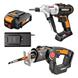 Worx WO7043 20V Switchdriver Drill/Driver and Axis 2-in-1 Recip/Jigsaw Combo Kit