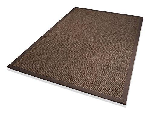 Dekowe Sisal Teppich Mara A2-Latex haselnu� mit Bord�re haselnu� 80x250 cm