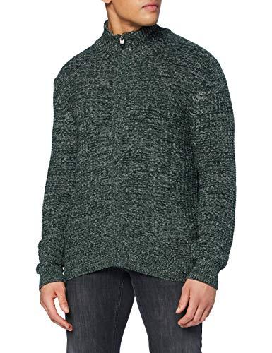 Pierre Cardin Multicolor Structure Strickjacke Suéter cárdigan, Verde, XXL para Hombre