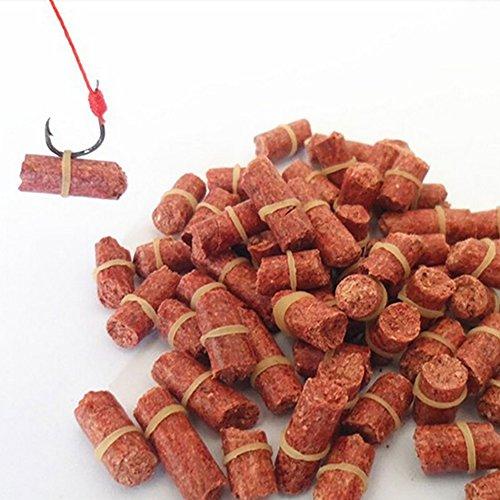 FAVOLOOK - Appâts granulés avec élastique pour pêche à la carpe de roseau en eau douce - Forte odeur de protéines de blé - Appâts (3,5 mm , 60g)