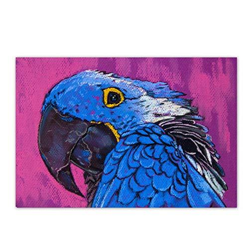 Wall Art Canvas schilderij kleurrijke papegaai foto's slaapkamer woonkamer Home Decor-60x90cm geen Frame