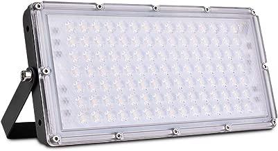 Viugreum 100W Foco Led Exterior, Reflector LED Blancos Cálidos, 8000LM, Iluminación Industriales IP65, Foco Para Jardín, Taller,garaje, Fábrica Y Bodega [Clase De Eficiencia Energética A+++]