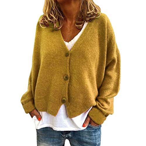 Z&Y Glaa Damen Grobstrick Strickjacke Herbst Winter Cardigan Patchwork Outwear...