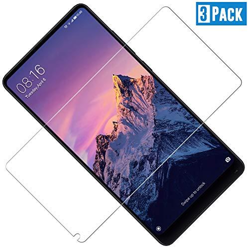 Xiaomi Mi Mix 2と互換性のあるTOCYORIC強化ガラス、Xiaomi Mi Mix 2と互換性のある保護フィルム、アンチスクラッチ、泡なし、高解像度、9H硬度[3ピース]
