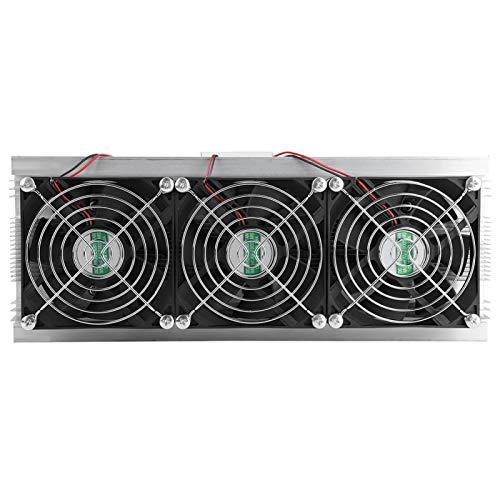 Jopwkuin Heimwerken 180W Dual-Chip thermoelektrisches Peltier-Kühlsystem-Kit DC 12V Wasserkühlgerät Kühler für kleinen Kühlschrank, Mini-Klimagerät oder Kühlgerät