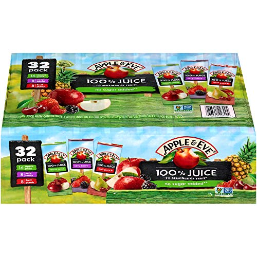 Apple & Eve 100% Juice Variety Pack, 6.75 Fl Oz, Pack of 32