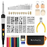 Wood Burning Kit, Wood Burning Tool Soldering Iron with Adjustable Temperature 392 to 842℉, Professional Pyrography Kit with Wood Burner Pen and Multiples Accessories for Embossing Carving Soldering